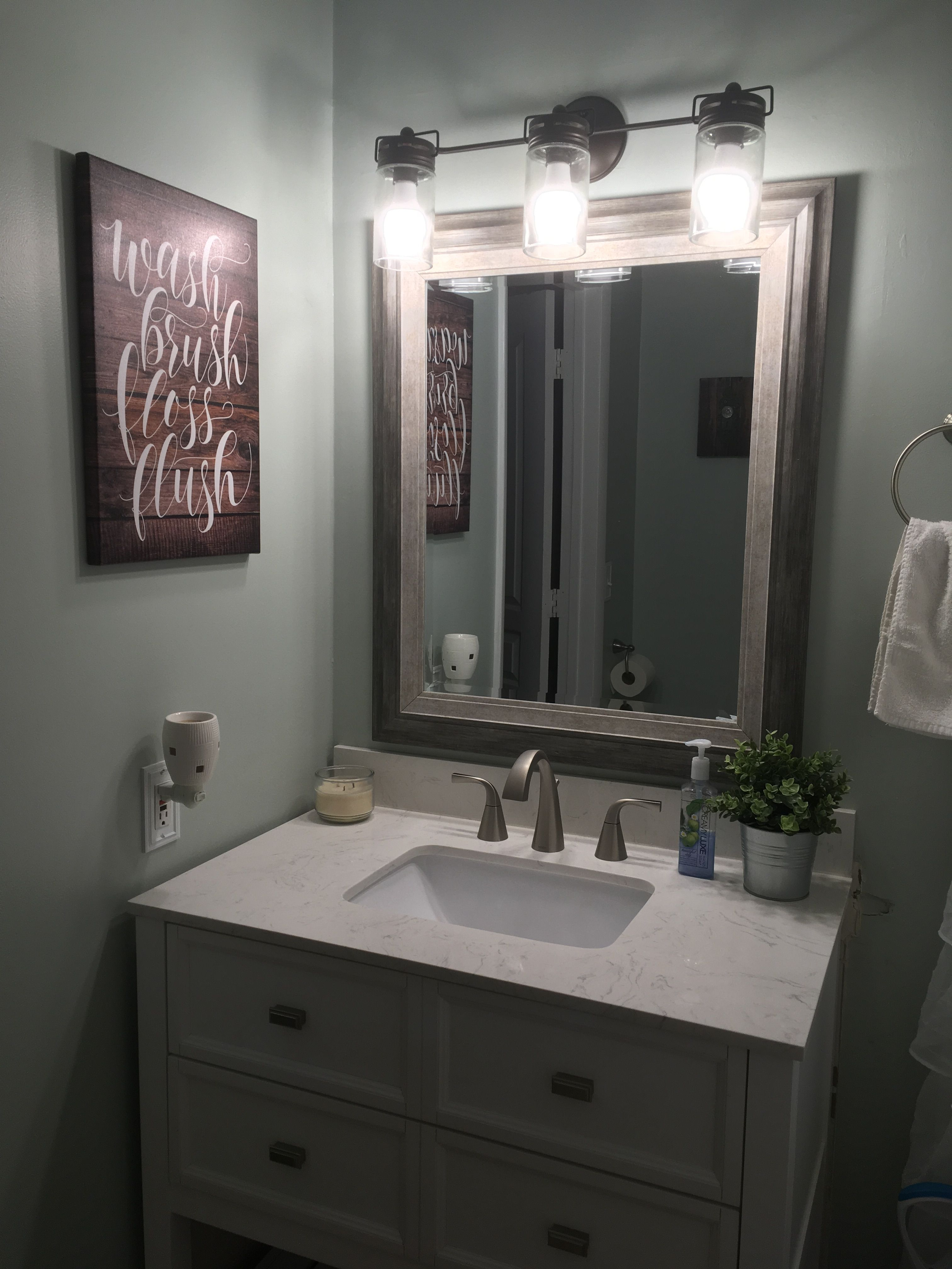 Idea by Savannah Roberts on My House | Framed bathroom ...