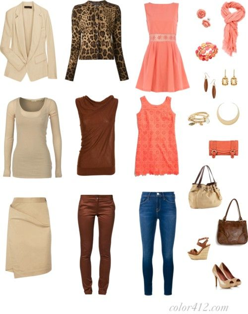 Capsule Wardrobe In Navy Brown Beige And Coral Color For Twelve Warm Spring Outfits Spring Capsule Wardrobe Classic Capsule Wardrobe