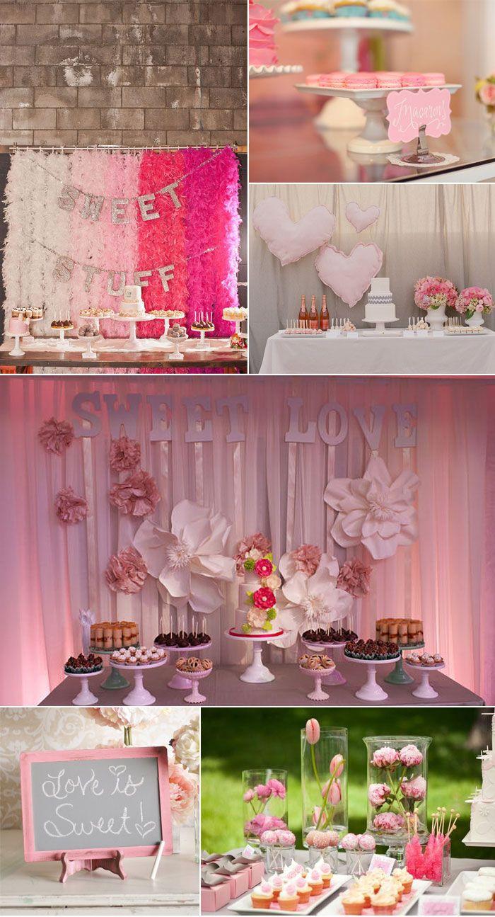 decoracion en rosa   party   Pinterest   Dessert bars, Backdrops and ...