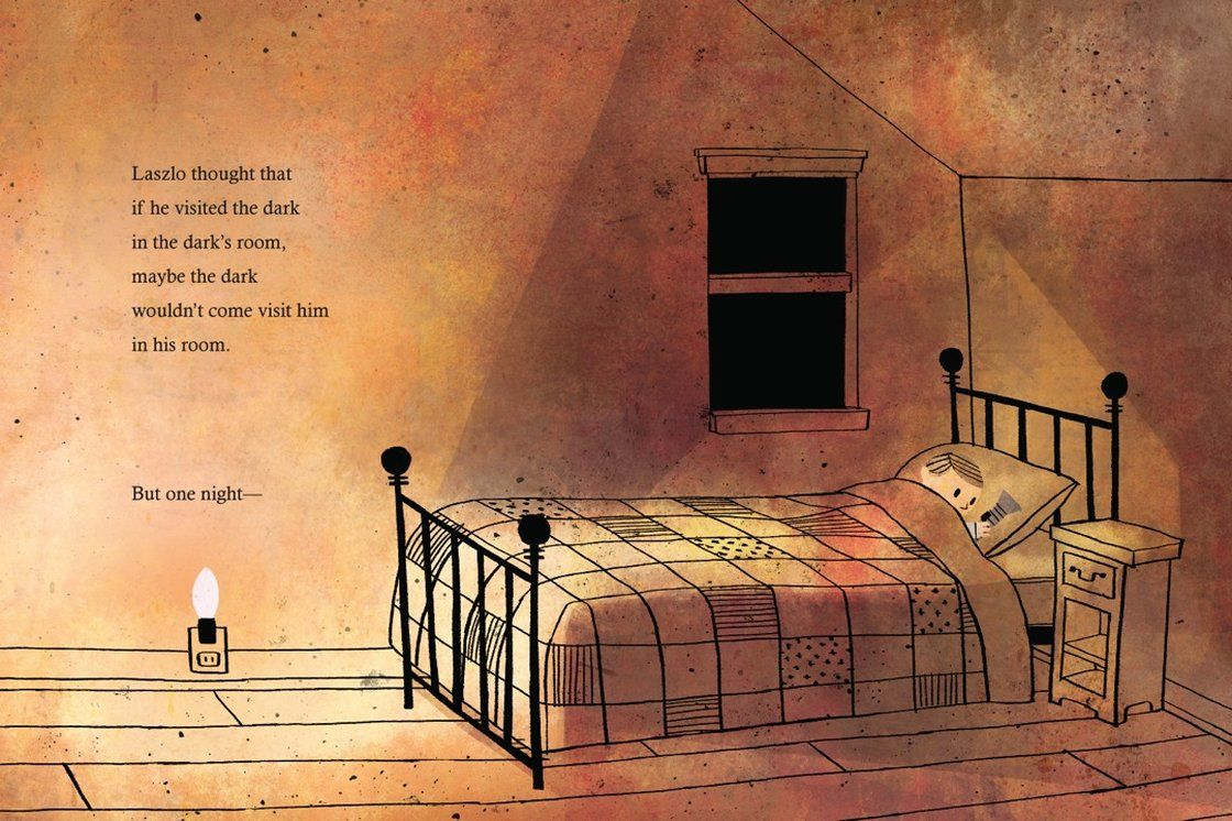"""Excerpted from The Dark by Lemony Snicket, illustrated by Jon Klassen. """"* Picture Books that Make Us Wish We Were Kids Again."""""""