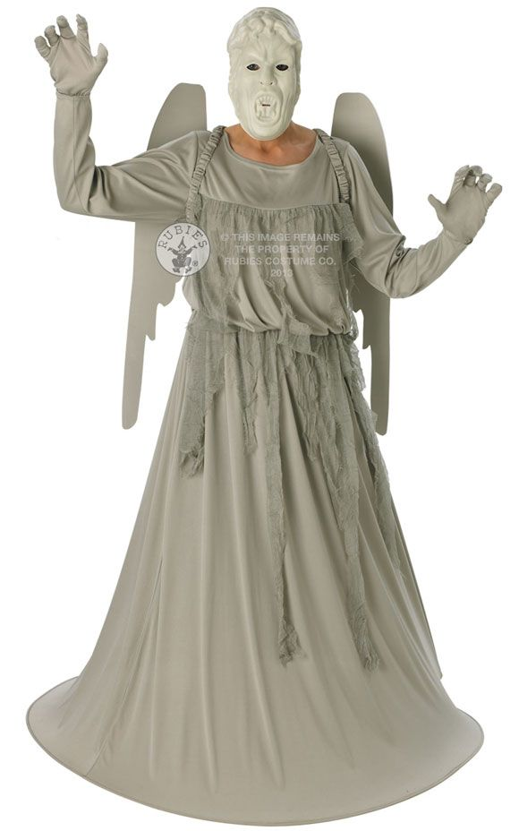 Adult Doctor Who Weeping Angel Outfit Fancy Dress Costume Set Halloween  Scary