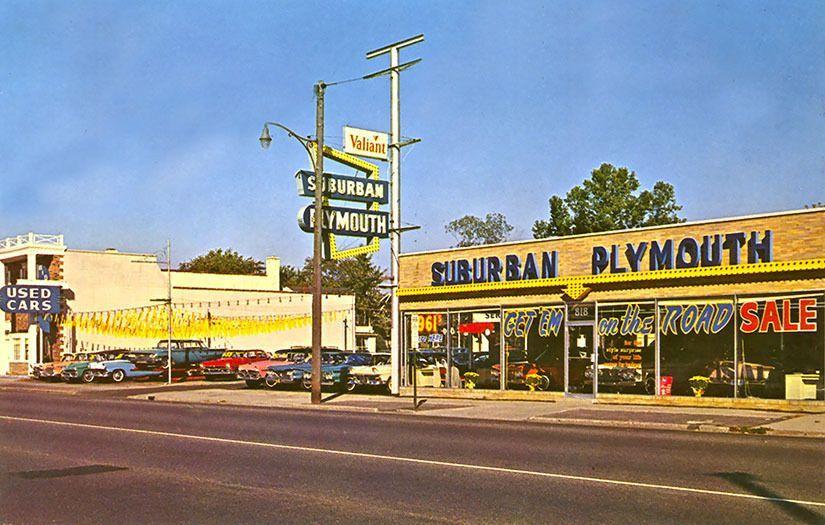 1961 Suburban Plymouth Dealership, Royal Oak, Michigan