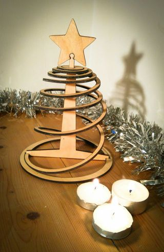 Easy Three Piece Flat Pack Christmas Tree Wooden christmas - wood christmas decorations