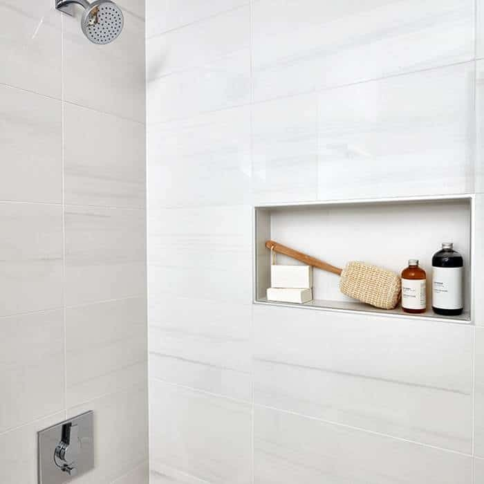 "Flat Paint Bathroom: Themar Bianco Lasa Matte 12""x24"""