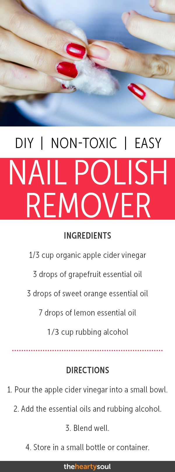 How to Make Non-Toxic Nail Polish Remover with Grapefruit, Orange, and Lemon Oils #diybeauty