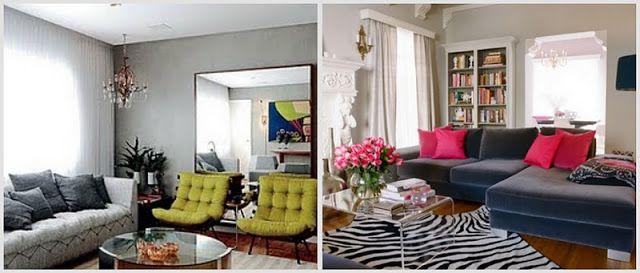 Sala De Estar Cinza Com Verde ~ Casa Salas de Estar em Tons de Cinza  Casa dos sonhos  Pinterest
