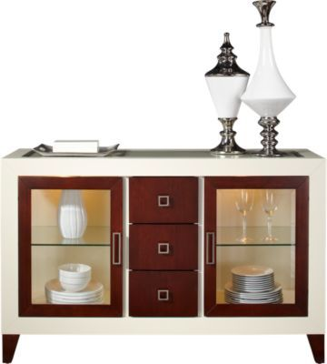Sofia Vergara Savona Server At Rooms To Go Servers Furniture Dining Room Buffet Affordable Dining Room Sets