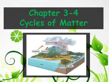 Ecology cycles of matter worksheet