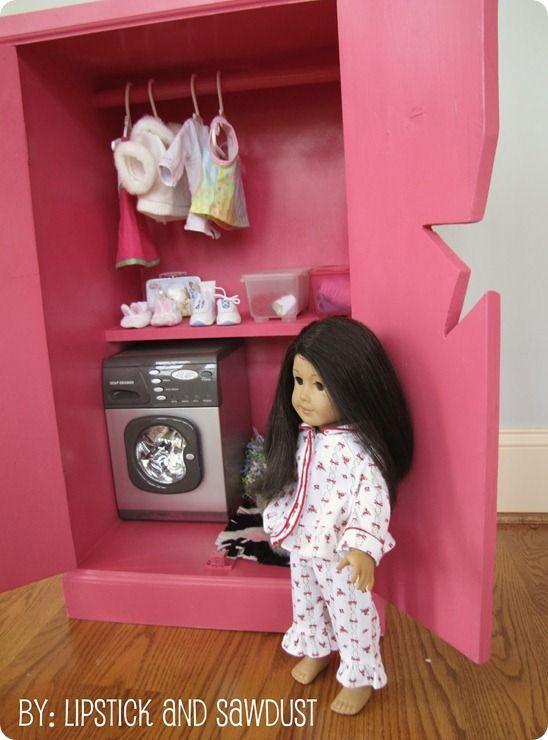 knockoff American Girl doll storage cabinet & knockoff American Girl doll storage cabinet | baby dolls | Pinterest ...