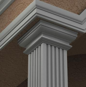 Exterior Columns Mouldex Mouldings Small House Elevation Design House Gate Design House Front Design