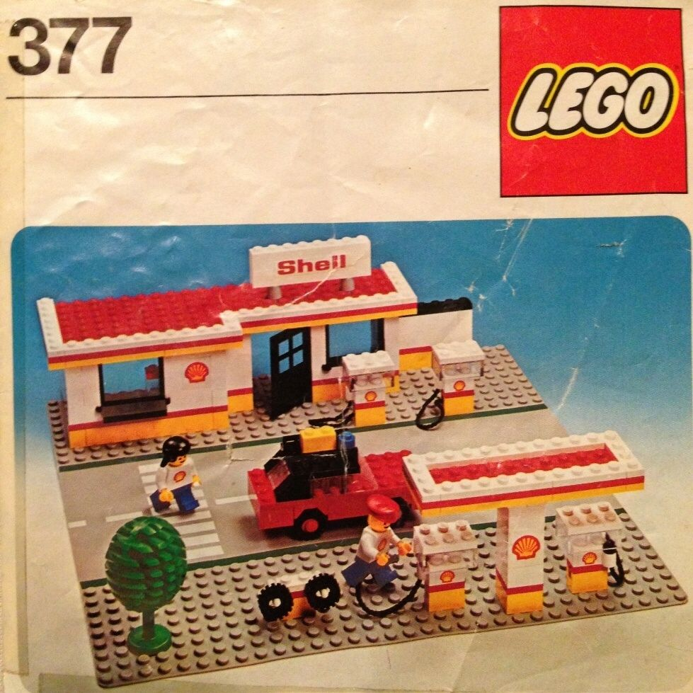 Pin lego 60032 city the lego summer wave in official images on - Lego 377 Shell Station Booklet