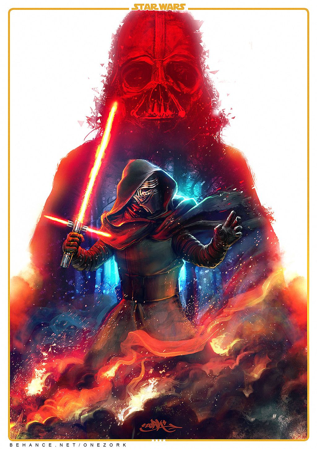 Star Wars The Force Awakens Created By Nestor Marinero Cervano