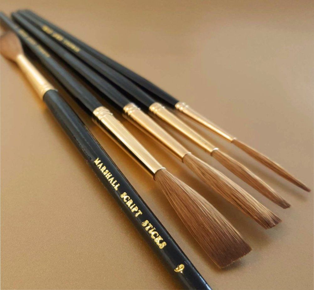 A Quality Handcrafted Lettering Brush Using The Finest Products Which Are Sold As A Set Of 4 Pure Kolinsky Sable Hair Roun Brush Set Pinstriping Designs Brush