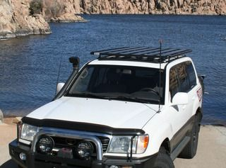 Pin By Mary Bennett On Expedition Roof Racks Lc100 Toyota Land Cruiser 100 Land Cruiser Toyota Land Cruiser