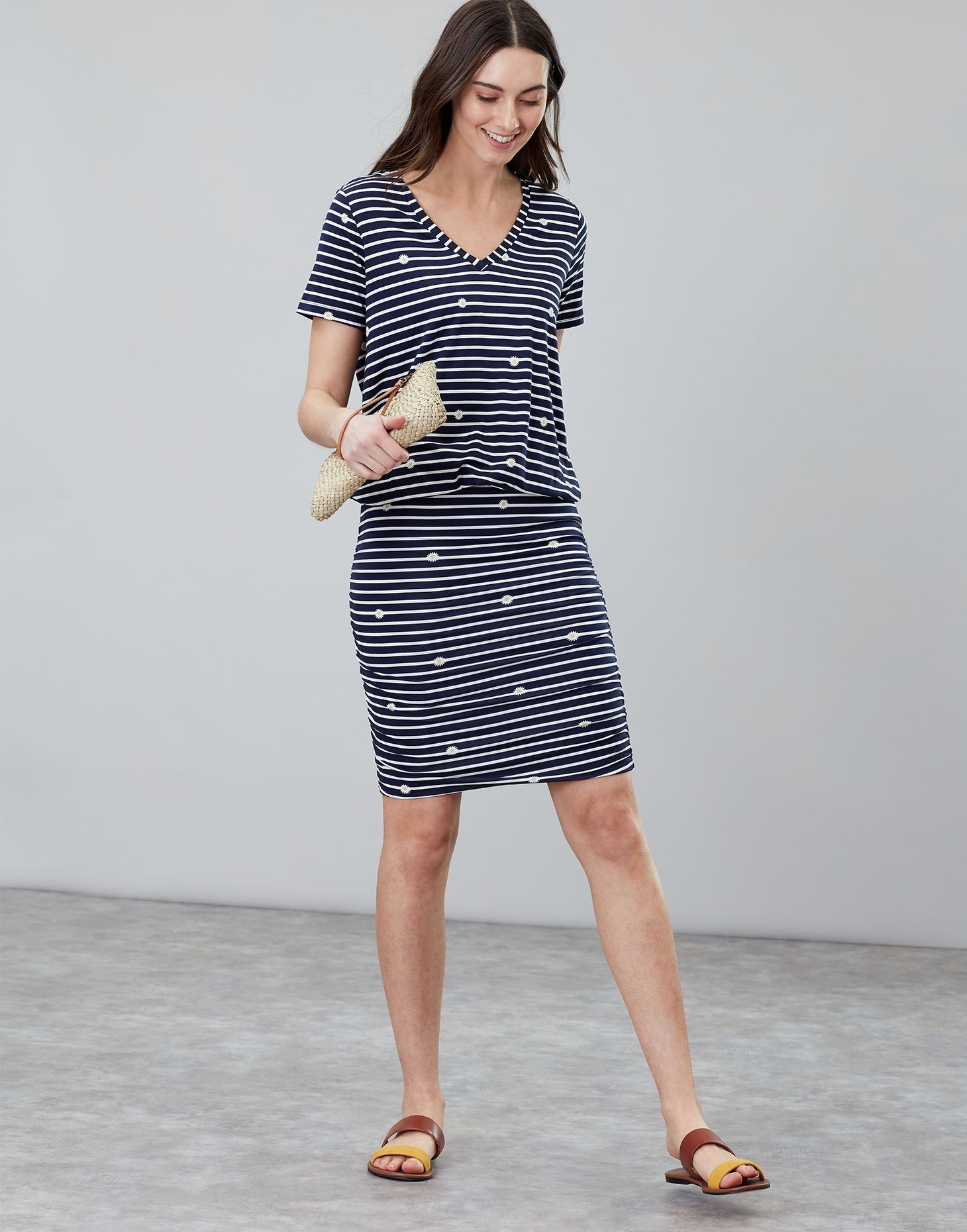 e9f113ebfe Candice V Neck Jersey Dress With Gathered Skirt in 2019 | KR Dec-Mar ...