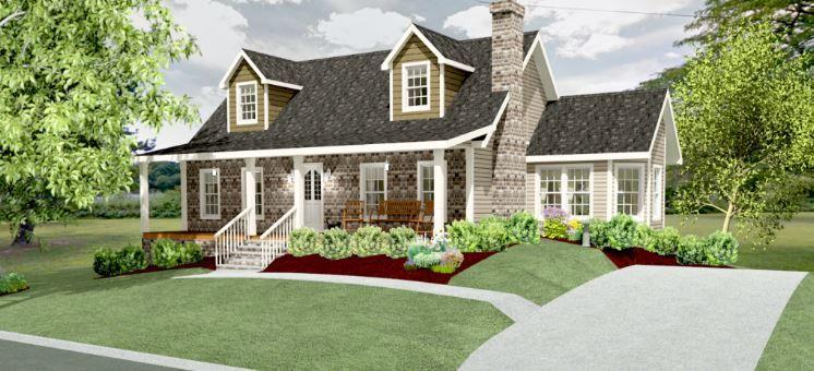 Cape Carolina Ii Guest House Plans Cape Cod House Plans Bungalow House Plans