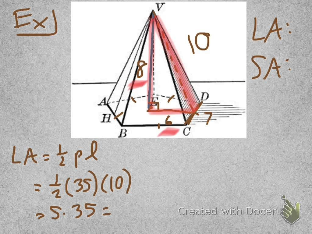 Geometry 11 3 Surface Area Pyramids And Cones