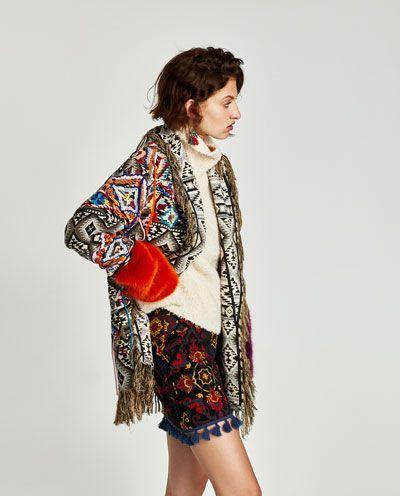 España Zara Jacquard Abrigo Mujer Abrigos Bordado Todo Ver 2018 HPxxw0Rq