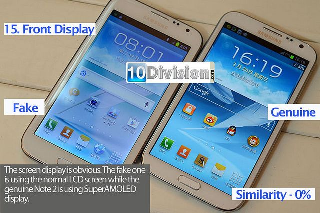 15 Samsung Galaxy Note 2 (GT-N7100) - Clone vs Original