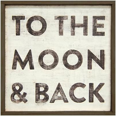Sugarboo Designs To the Moon and Back Little Art Print