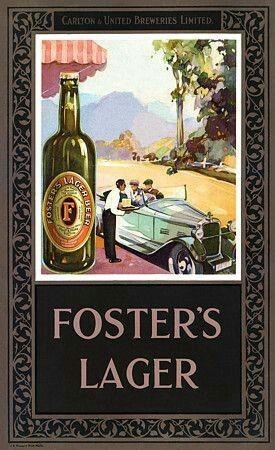 Foster's Lager ~ Australia 1930s. 🍺 | Vintage advertising ...