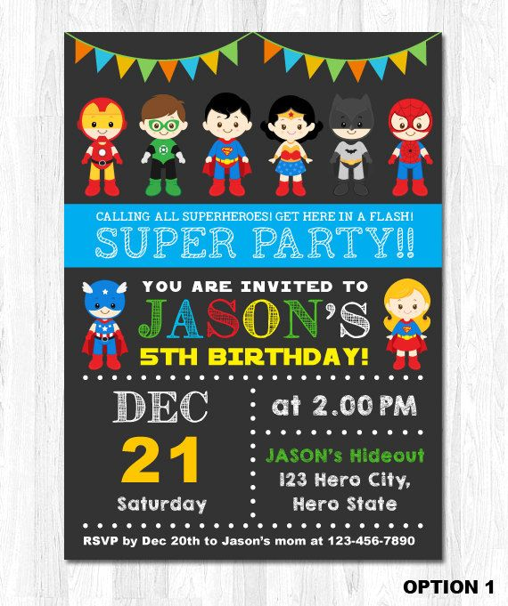 superhero birthday invitation superhero boy invitation superhero