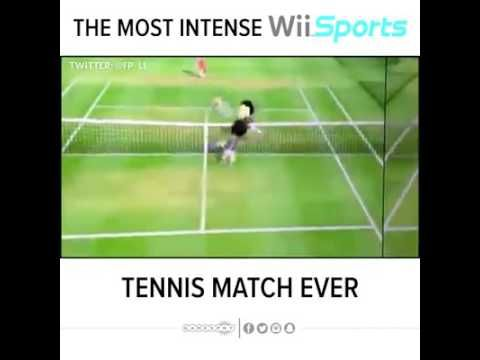 Wii Sports Tennis Most Intense Match Ever Played Funny Video Memes Funny Jokes To Tell Funny Relatable Memes