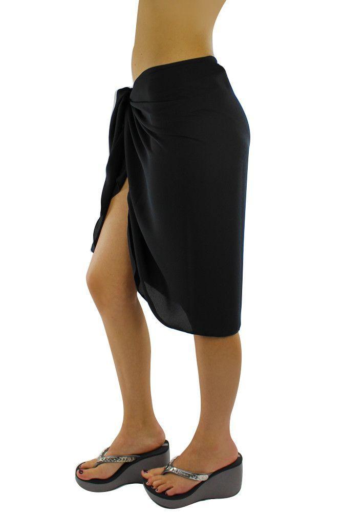 bddf0d9f4d9af Sheer Knee Length Cover Up Sarong Wrap for Women | Summer Sarongs ...