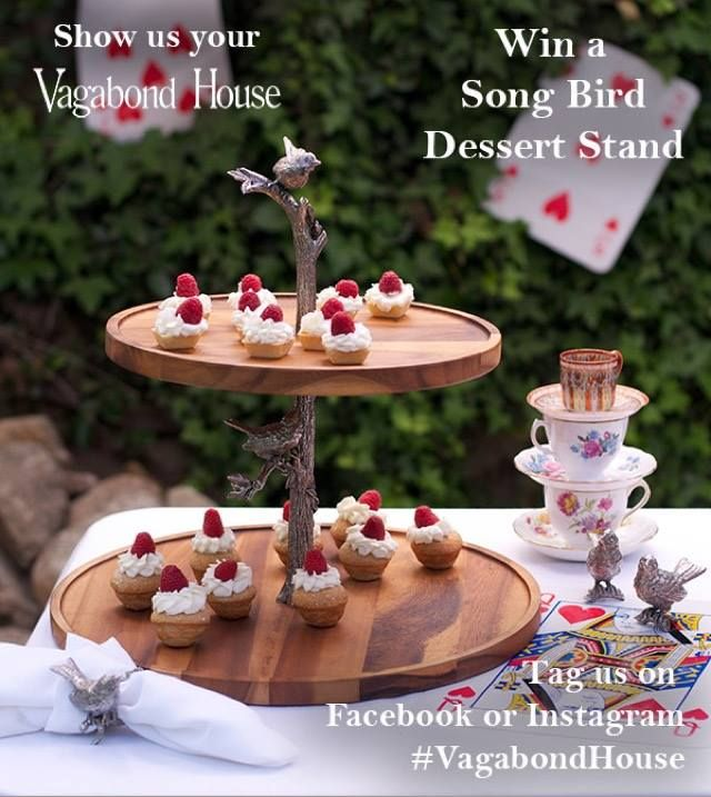 Enter Our Lottery To Win This Songbird Cheese Stand By Posting A Photo Of Your Vagabond House Product In Your Home Busin Vagabond House Dessert Stand Song Bird