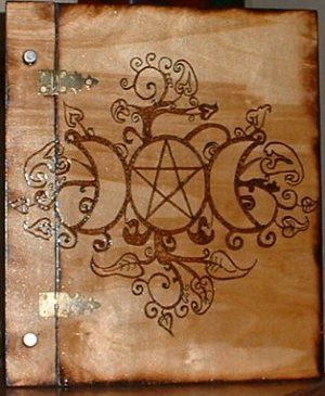 pictures of wooden book of shadows - Google Search