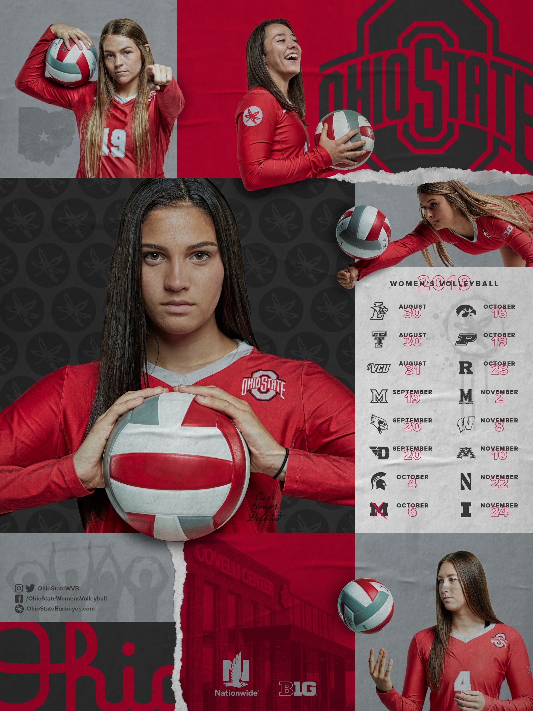 19 20 Volleyball Schedule Poster In 2020 Sports Graphic Design College Sports Graphics Sport Poster Design