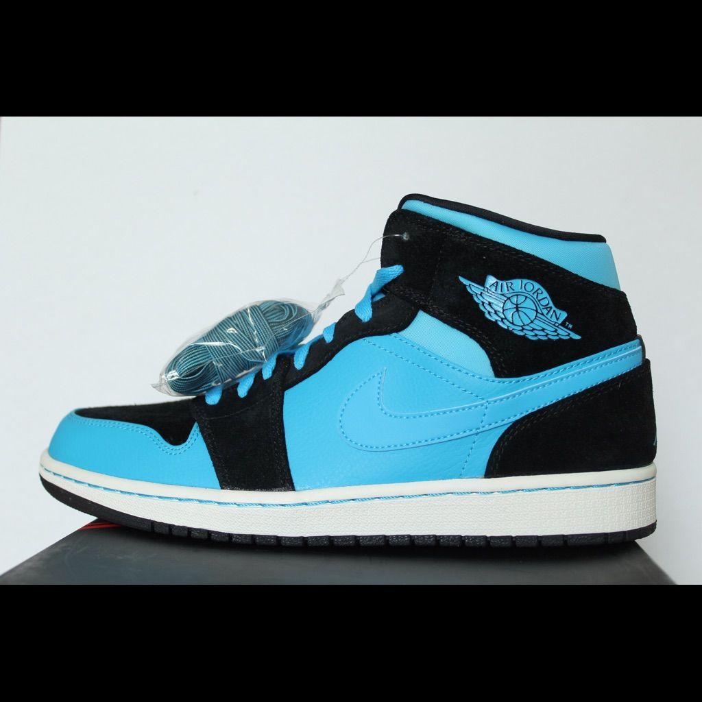 Nike Shoes Rare Air Jordan 1 Powder Black Blue Sz 10 New