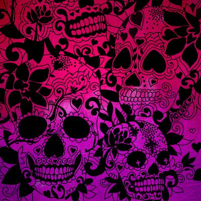 Skulls Art Print Sugar Skulls In 2019 Skull Artwork Skull Art