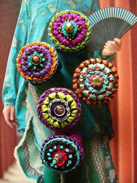 Neue bunte Boho-Häkelringe, Anzeige, unverkäuflich von crochet.jewels auf DaWanda.com