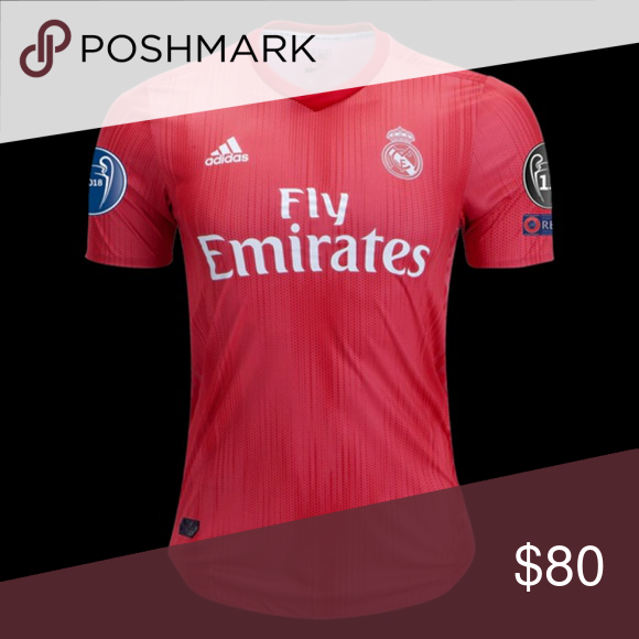 reputable site 3e4ee 60e96 New Real Madrid 2018/19 Third Kit Champions League New Red ...