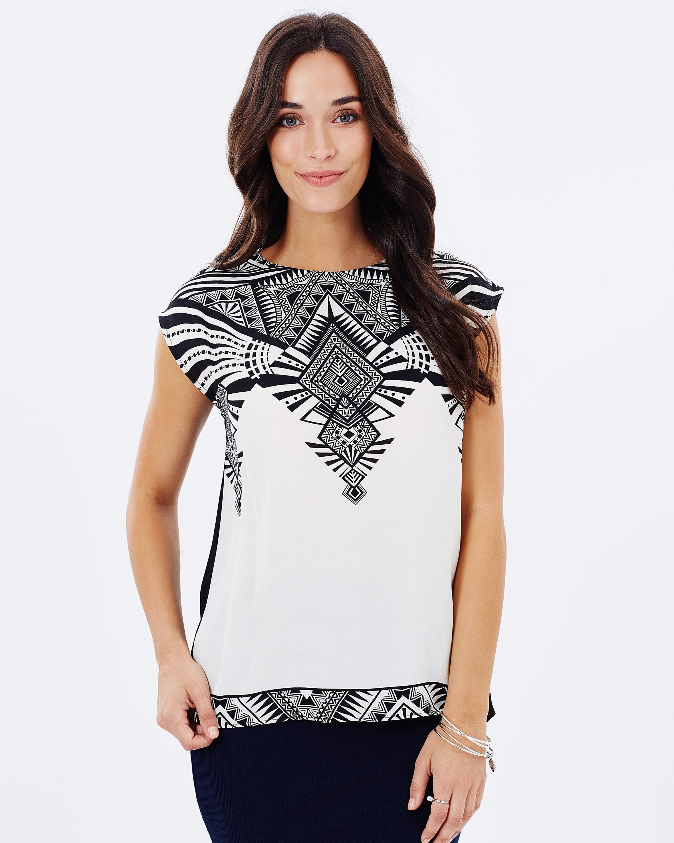 Deco Wrap Back T-Shirt by Oasis Online | THE ICONIC | Australia