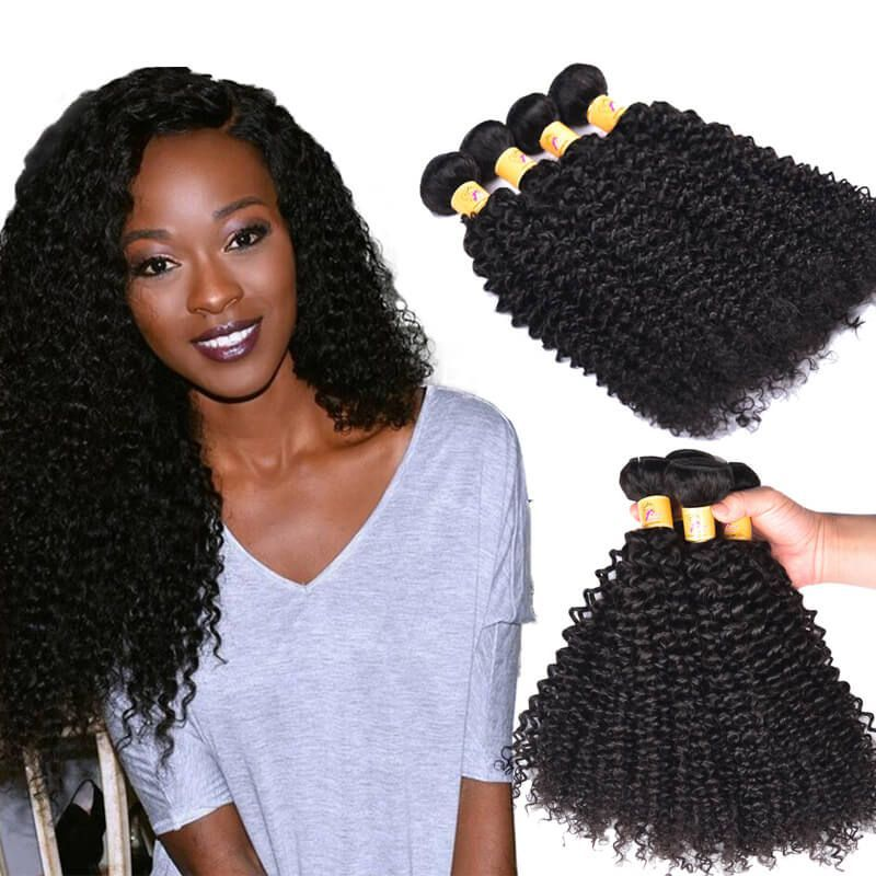 Virgin Malaysian Curly Weave Human Hair 4 Bundles Deals 1b Curly
