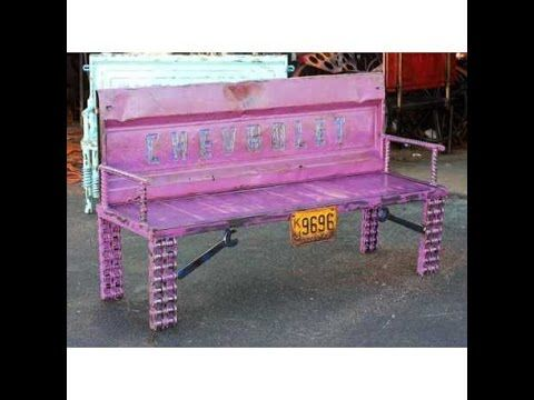 Old Truck Tailgate Bench