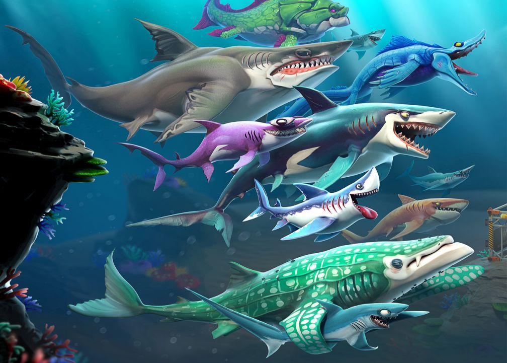 Hungry Shark Evolution Mod Apk Unlimited Coins Gems Money For Free Tricksvile Shark Evolution Animal Games