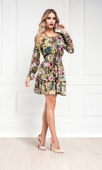 Vestido Ciganinha Onça