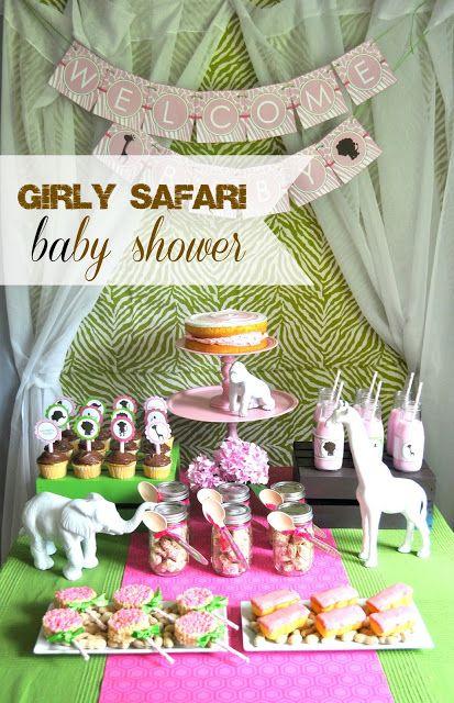 shannanigans bottle pop parties girly safari baby shower. Black Bedroom Furniture Sets. Home Design Ideas