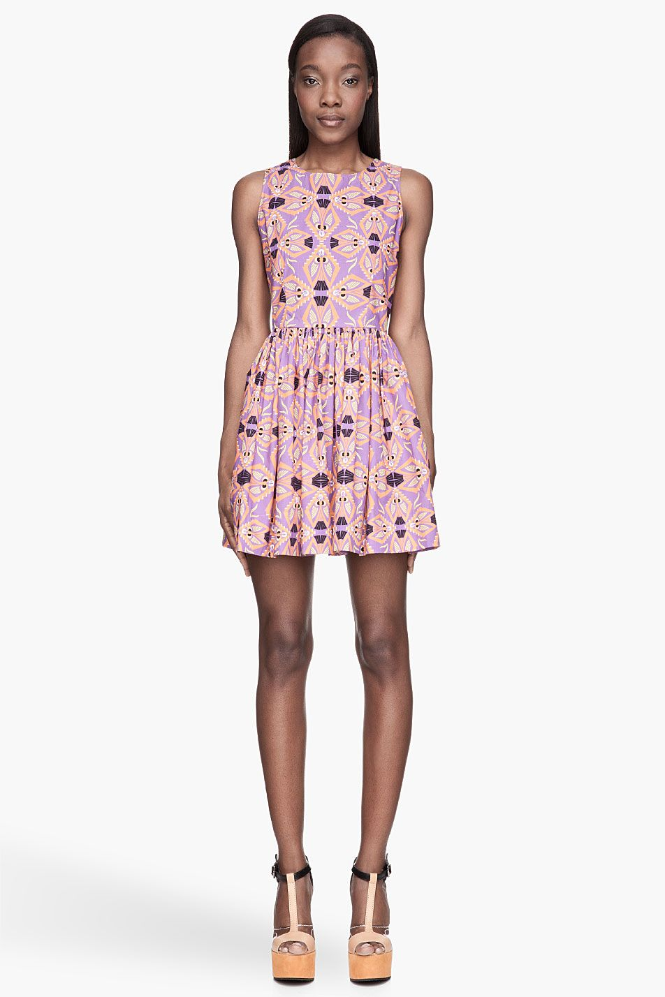 MSGM Purple and orange tie-back Dress | School Spirit | Pinterest