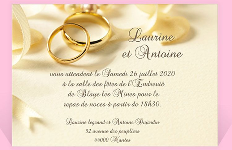 modele invitation mariage modele
