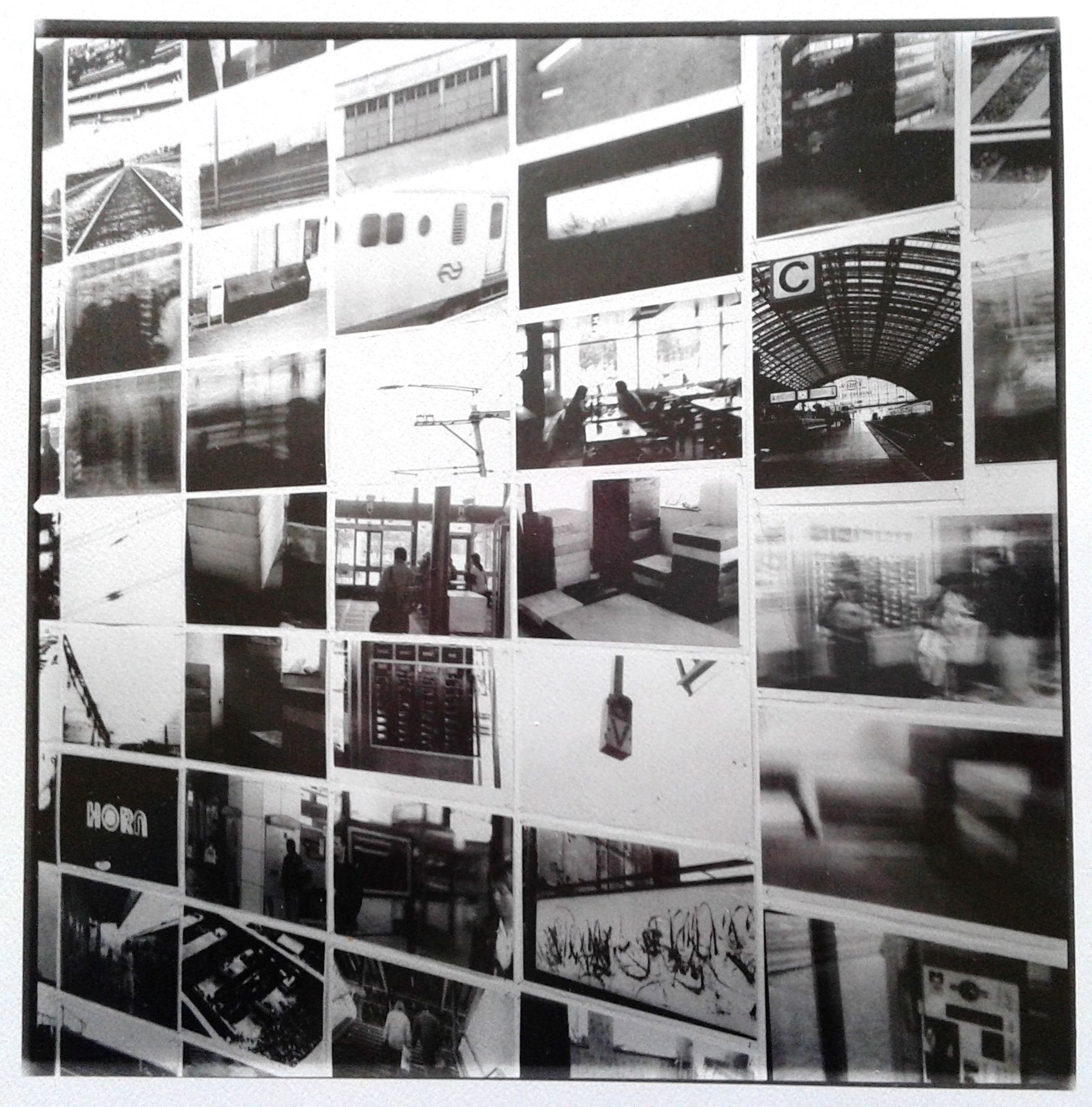 Sef Berkers. Exhibition 'Je suis à la gare 1'. Photocopies. Installation gallery Van Laethem, Rekem, Belgium.