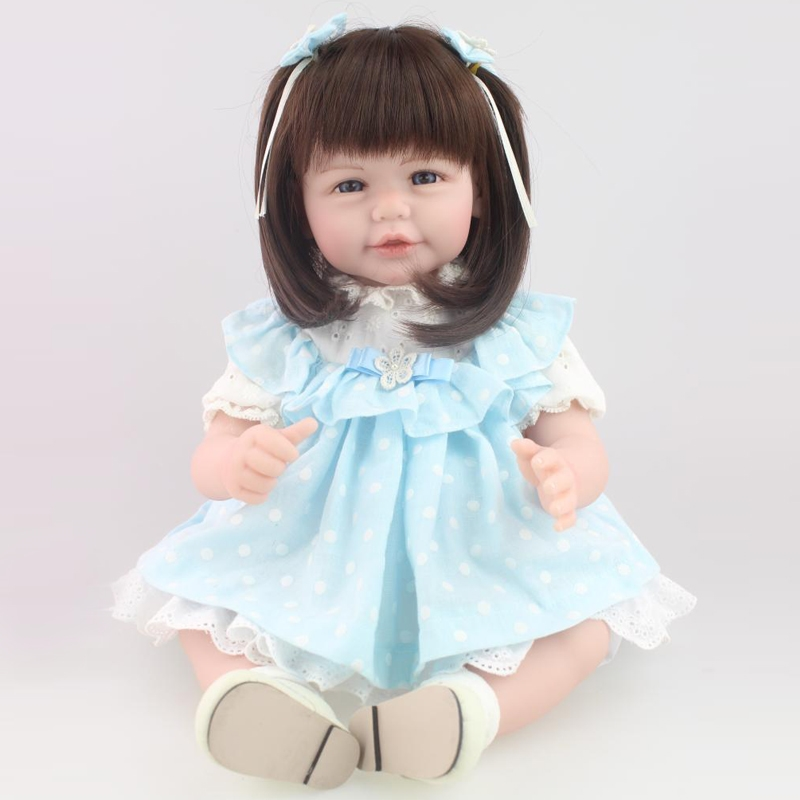 74.51$  Buy here - http://aliz4h.worldwells.pw/go.php?t=32651077504 - 50-52 cm Silicone Reborn Baby Dolls Blue clothes reborn dolls babies Puzzle Toys Doll Reborn Soft Body With Clothes Best Toys