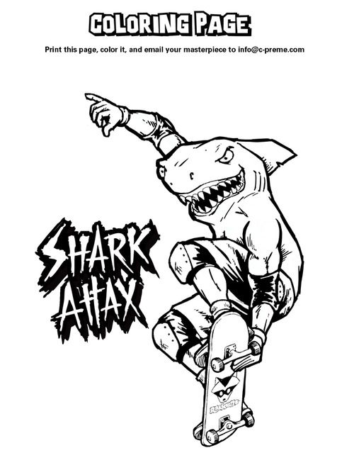 coloring pages shark boy - photo#12