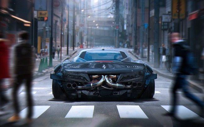 ferrari 458 italia spider 4k wallpaper - Ferrari 458 Blue Wallpaper