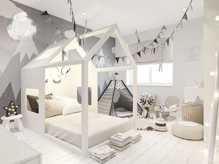 Chambre d'enfant de style scandinave au Behance