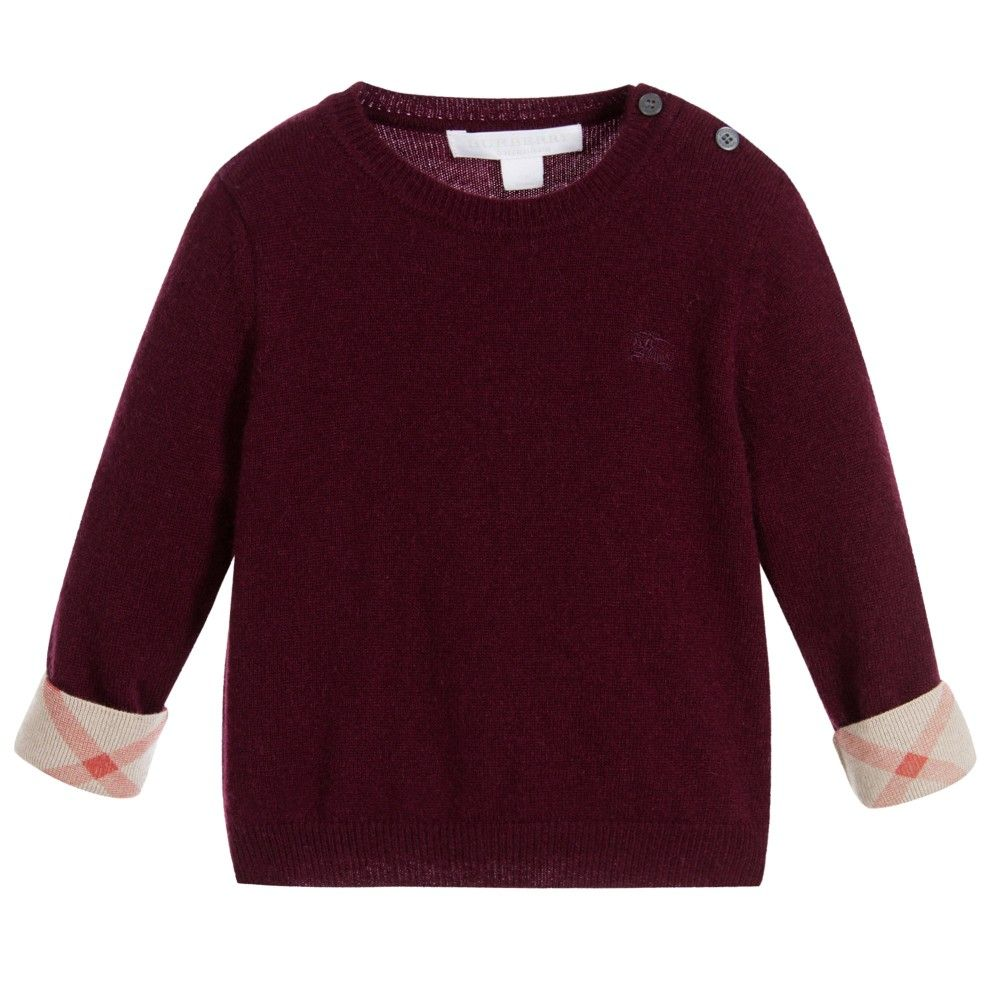 Baby Boys Burgundy Cashmere Sweater | Cashmere sweaters, Kids ...