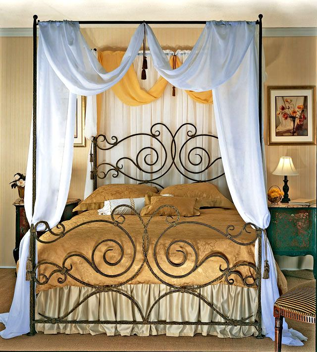 Iron canopy beds 713868CT_01 Iron canopy bed